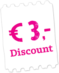 Buy your tickets online at a € 3 discount